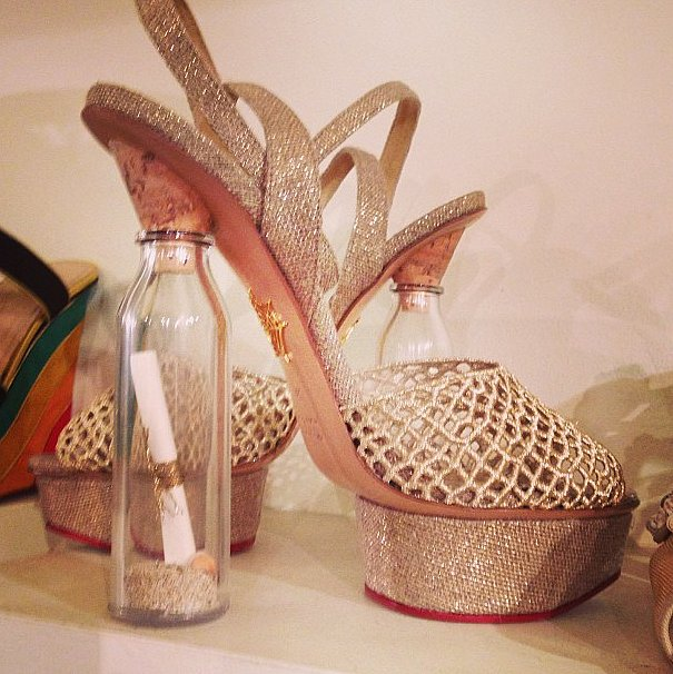 It's a message in a bottle — in a heel!