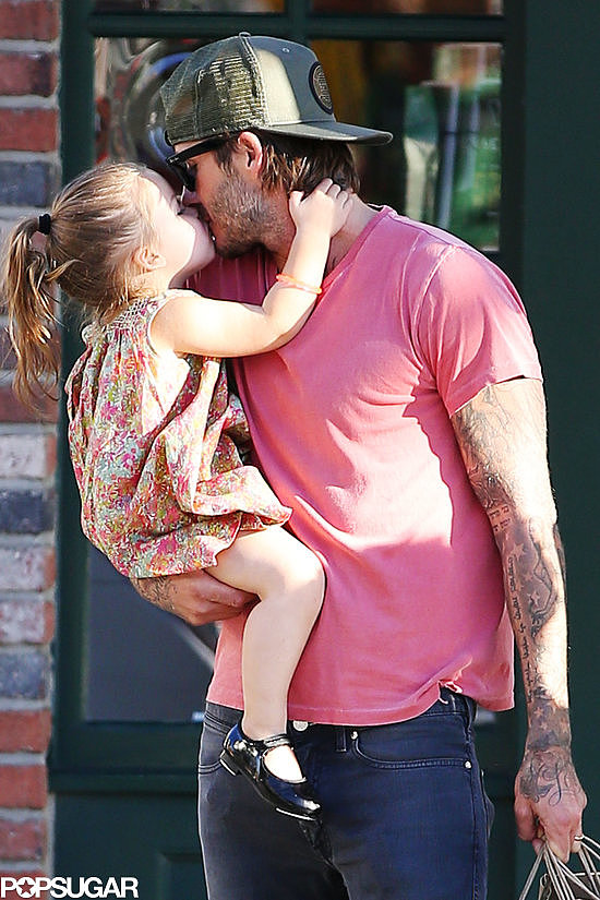 David Beckham and Harper Beckham had an adorable moment during an LA shopping trip on Thursday.