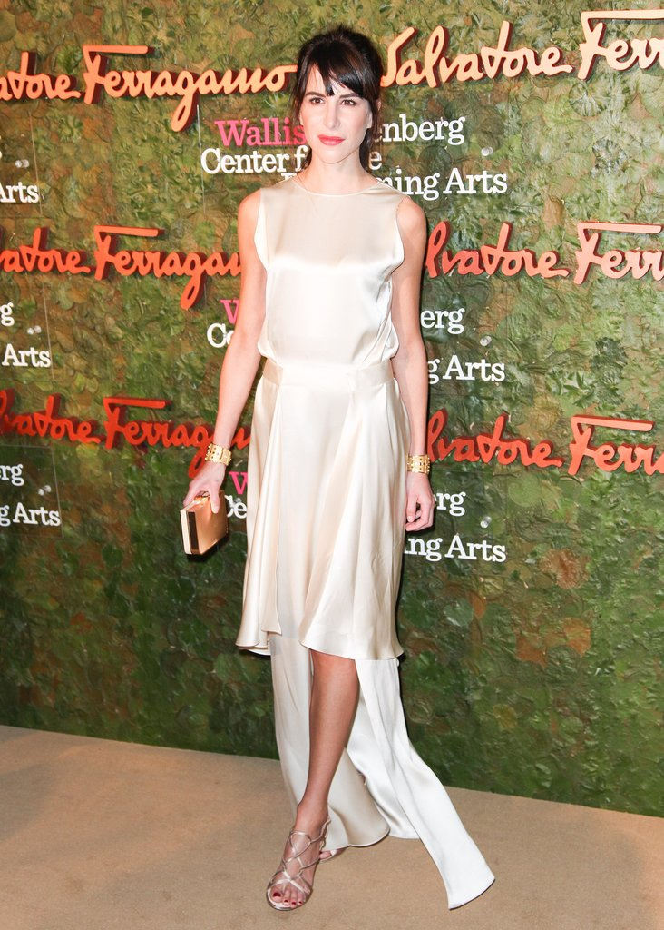 Caroline Sieber looked radiant in her flowing design at the Inaugural Gala for the Wallis Annenberg Center.