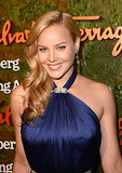 Abbie Cornish took to the red carpet with glossy curls and bold brows.