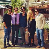 "Skyler Berman spent Columbus Day surrounded by his mom and her ""boys""! Source: Instagram user Rachel Zoe"