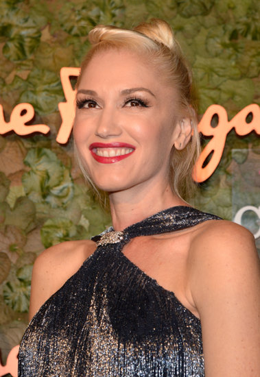 Gwen Stefani glowed during a night out with her husband, Gavin.