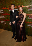 Liz Goldwyn held her brother, Tony Goldwyn, close while they posed for photos during the Annenberg Gala.