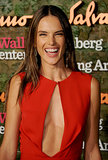 Alessandra Ambrosio showed off her smile for cameras at the Annenberg Gala.