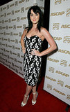 From her raven-hued locks to her stark white pumps, Katy's 2008 ASCAP Pop Awards look was perfectly color coordinated.