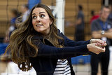 Kate Middleton showed off her volleyball skills during the visit.