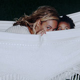 Beyonce Playing Peekaboo With Blue