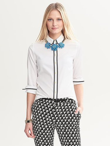 Fitted Non-Iron Piped Shirt