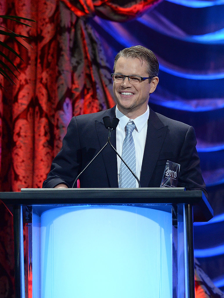 Matt Damon accepted his honor at the Environmental Media Awards in LA.