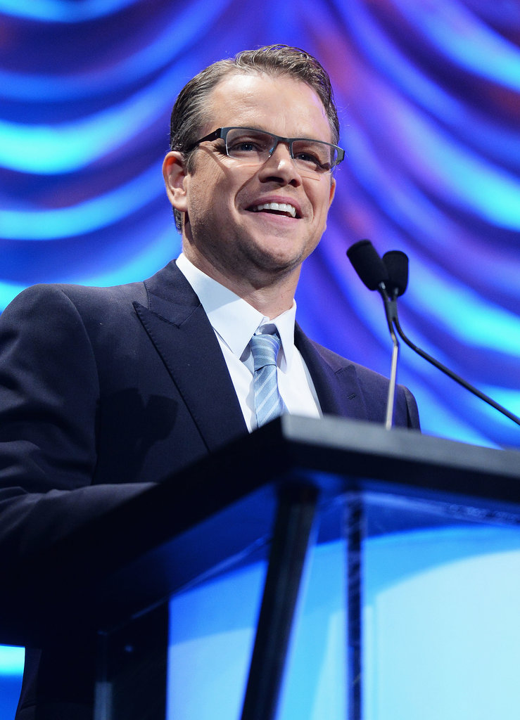 Matt Damon took the stage at the Environmental Media Awards.