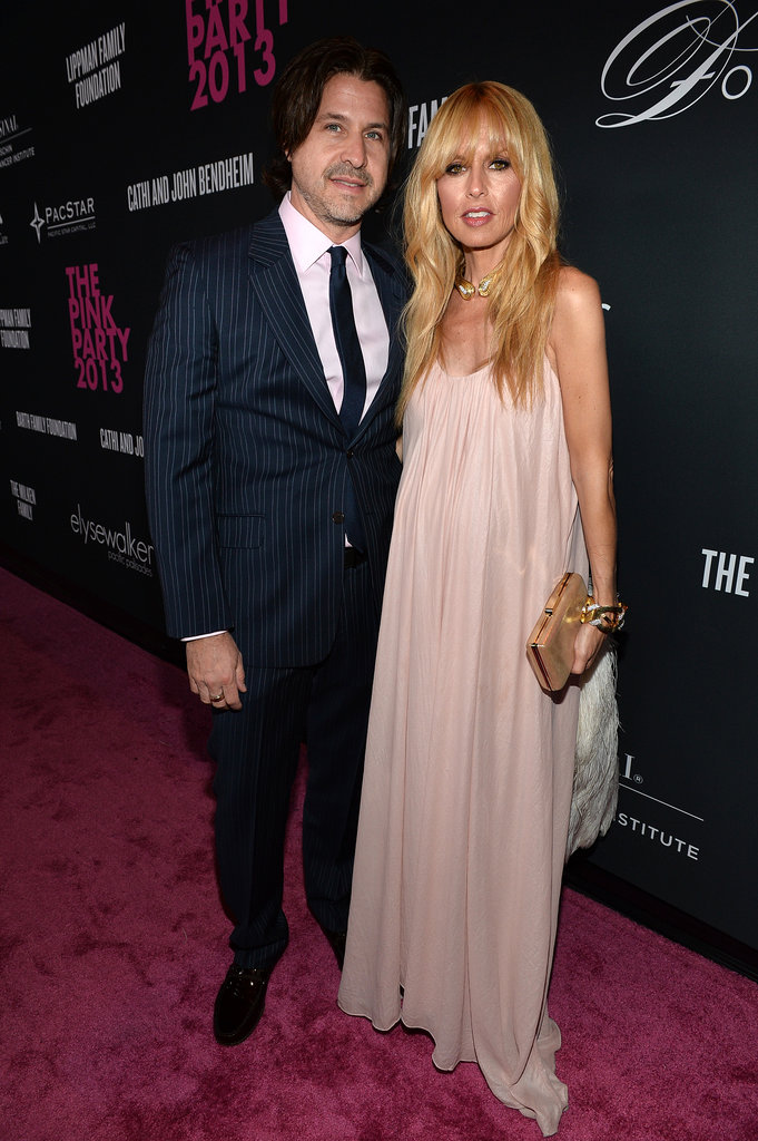Pregnant Rachel Zoe attended The Pink Party with her husband, Rodger Berman.
