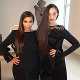 Kim Kardashian struck a pose with a similarly-styled friend. Source: Instagram user kimkardashian