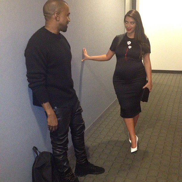 Pregnant Kim Kardashian and Kanye West went out for a date night. Source: Instagram user kimkardashian