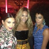 Kim Kardashian linked up with Beyoncé and Solange Knowles at the 2013 Met Gala. Source: Instagram user kimkardashian