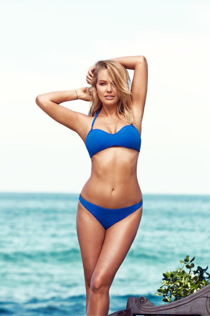 Lara Bingle models a bikini she designed for Cotton On Body.