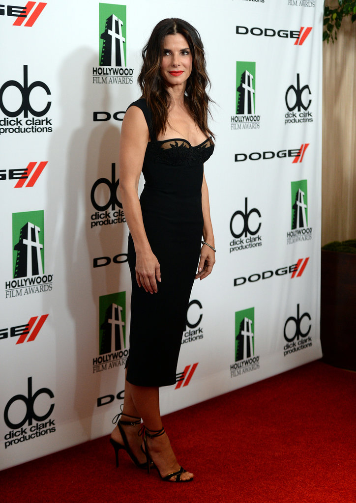 Sandra Bullock hit the red carpet before winning the actress award at the Hollywood Film Awards.