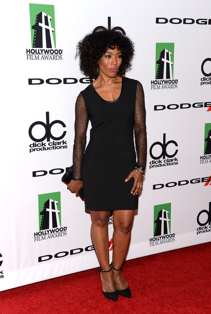 Angela Bassett made an appearance on the red carpet before presenting at the Hollywood Film Awards.