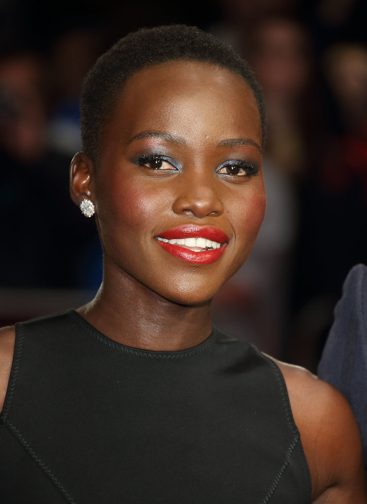 Who says you can't wear a smoky eye and bold lip at the same time? Lupita Nyong'o wore the dramatic makeup well at the 12 Years a Slave premiere.