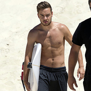 Liam Payne Shirtless and Surfing in Australia