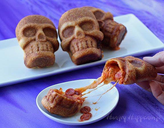 Stuffed Pizza Skulls