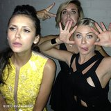 Nina Dobrev and friends (including Julianne Hough) got wacky while looking the picture of sophistication in their dresses. Source: Instagram user ninadobrev