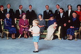 After Prince Harry's christening on Dec. 21, 1984, Prince William amused his royal relatives.