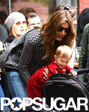 Gisele Bündchen took her daughter, Vivian, out for lunch in NYC on Saturday.