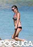 Kate Moss went on a beach vacation.