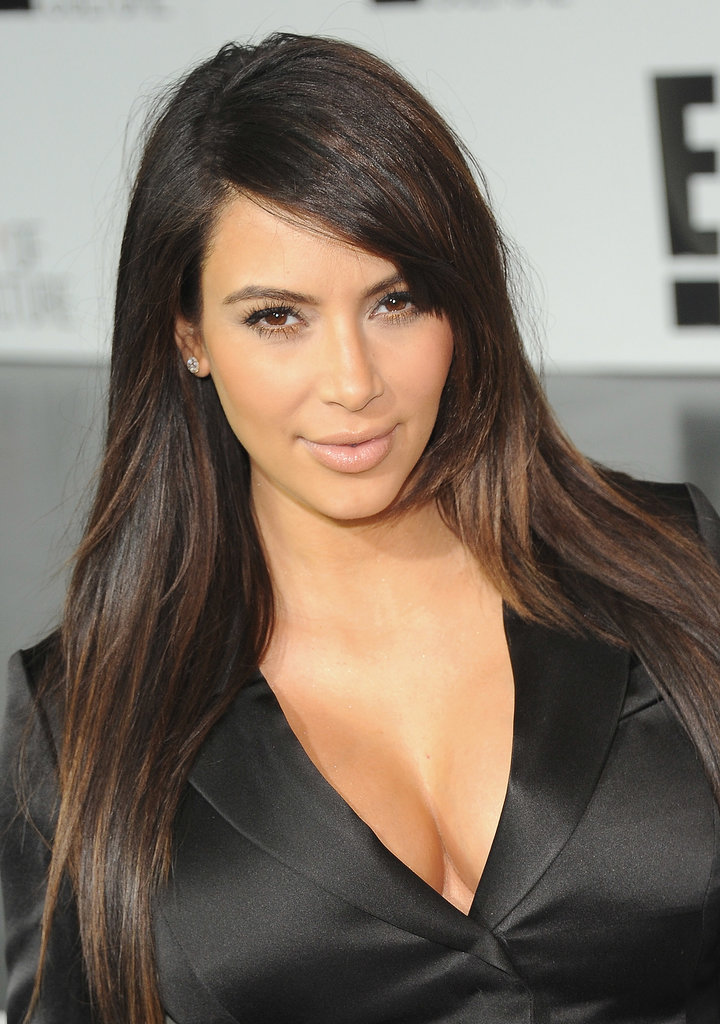 Kim swept a tiny bit of gold shadow along her lower lash line for the 2013 E! Upfront.