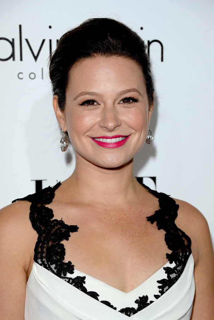 Scandal star Katie Lowes added a pop of color to her black-and-white ...: www.popsugar.com/beauty/photo-gallery/32233617/image/32233650...