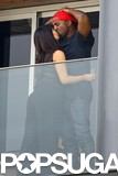 Kim Kardashian kissed Kanye West.