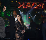 Kanye kicked off 2013 with Kim at a New Year's Eve bash at  Las Vegas's 1 Oak nightclub. The pair had even more than just the New Year to celebrate. Over the holiday weekend, they announced that they were expecting their first child together.