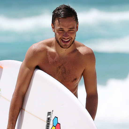 Shirtless Liam Payne Pictures Surfing in Australia