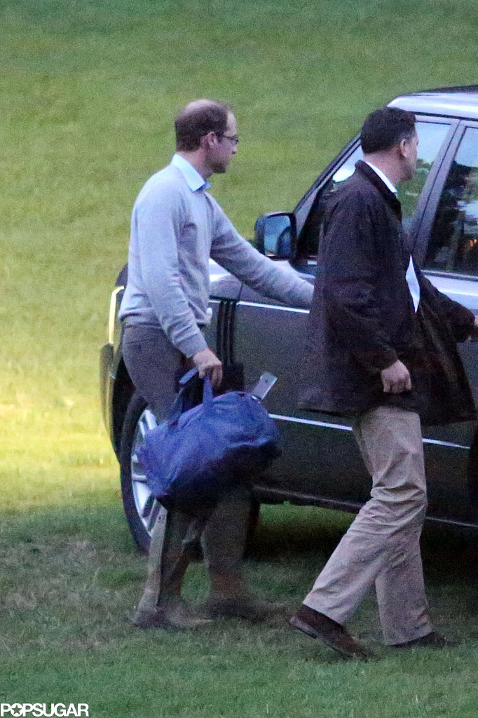 Prince William returned from his hunting trip.