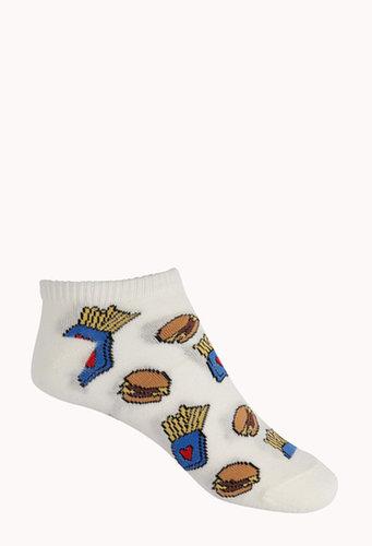 FOREVER 21 Fast Food Ankle Socks