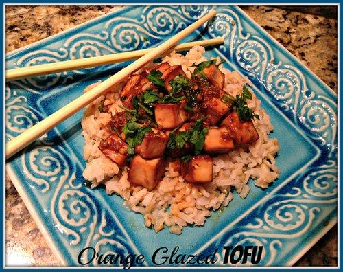 Orange Glazed Tofu