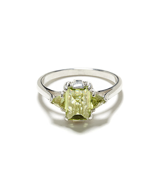 Anna Sheffield Bea Peridot Cocktail Ring ($550)