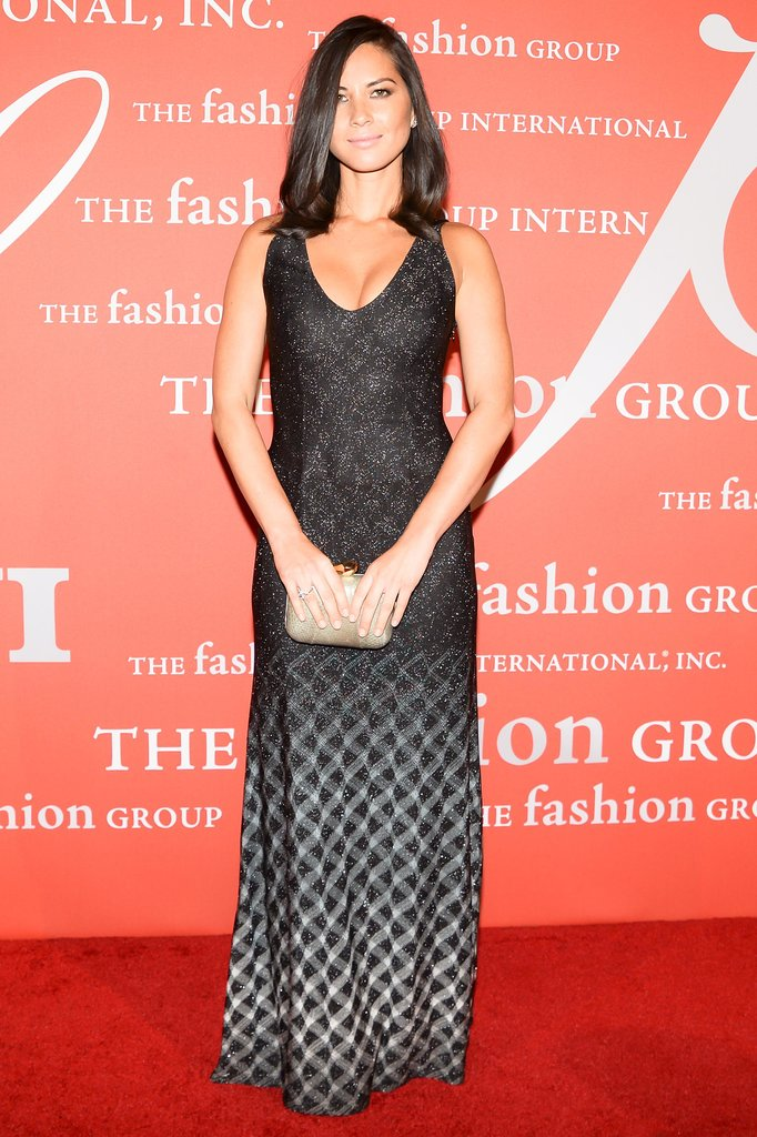 Olivia Munn, who wore Missoni, was one of many celebrities who showed up on the red carpet.