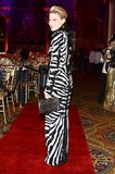 Julie Macklowe's zebra-striped dress was among the wilder looks at this event.