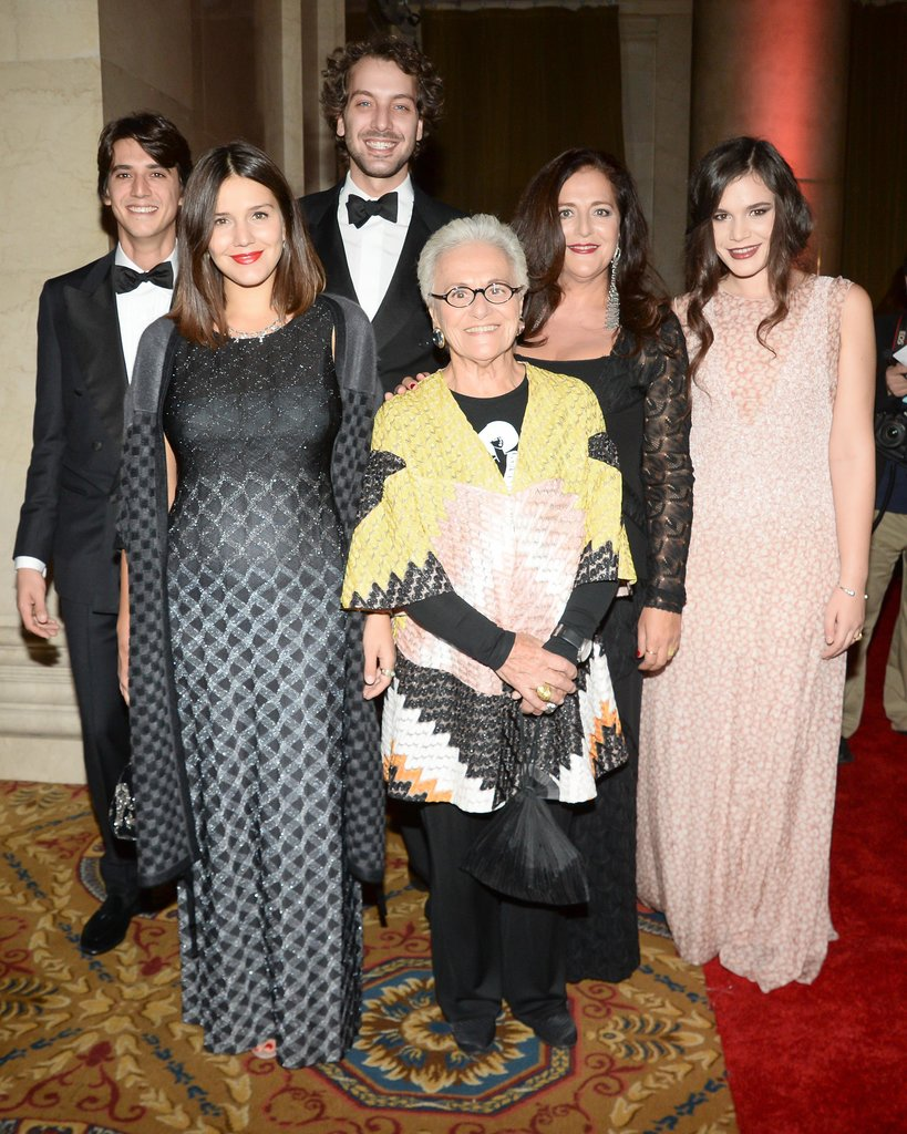 Angela Missoni, who was up for the evening's international fashion prize, brought much of her family to the event. From left, Eugenio Amos, his wife, Margherita Missoni, Francesco Missoni, Rosita Missoni, Angela, and Teresa Missoni.