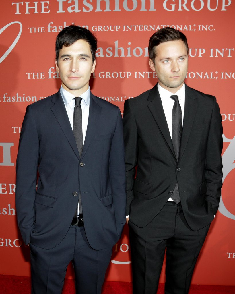 Proenza Schouler's Lazaro Hernandez and Jack McCollough came out to support their fellow designers.