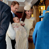 Kate Wears Cream For Prince George's Christening