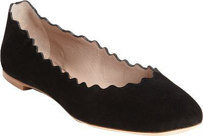 Chloé Suede Scalloped Flat
