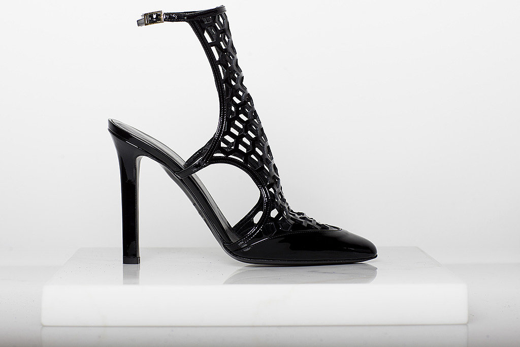 Secret Place Patent Mesh Sandal Bootie in Black ($895) Photo courtesy of Tamara Mellon