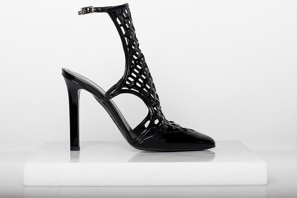 Secret Place Patent Mesh Sandal Bootie in Black ($895) Photo courtesy of Tamara Mellon