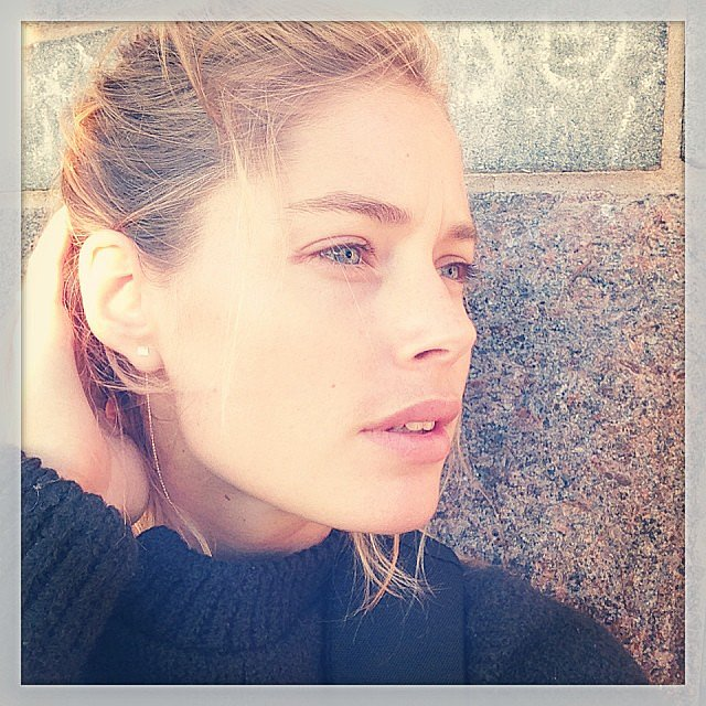 Doutzen Kroes shared a fresh-faced snap with her followers. Source: Instagram user doutzen