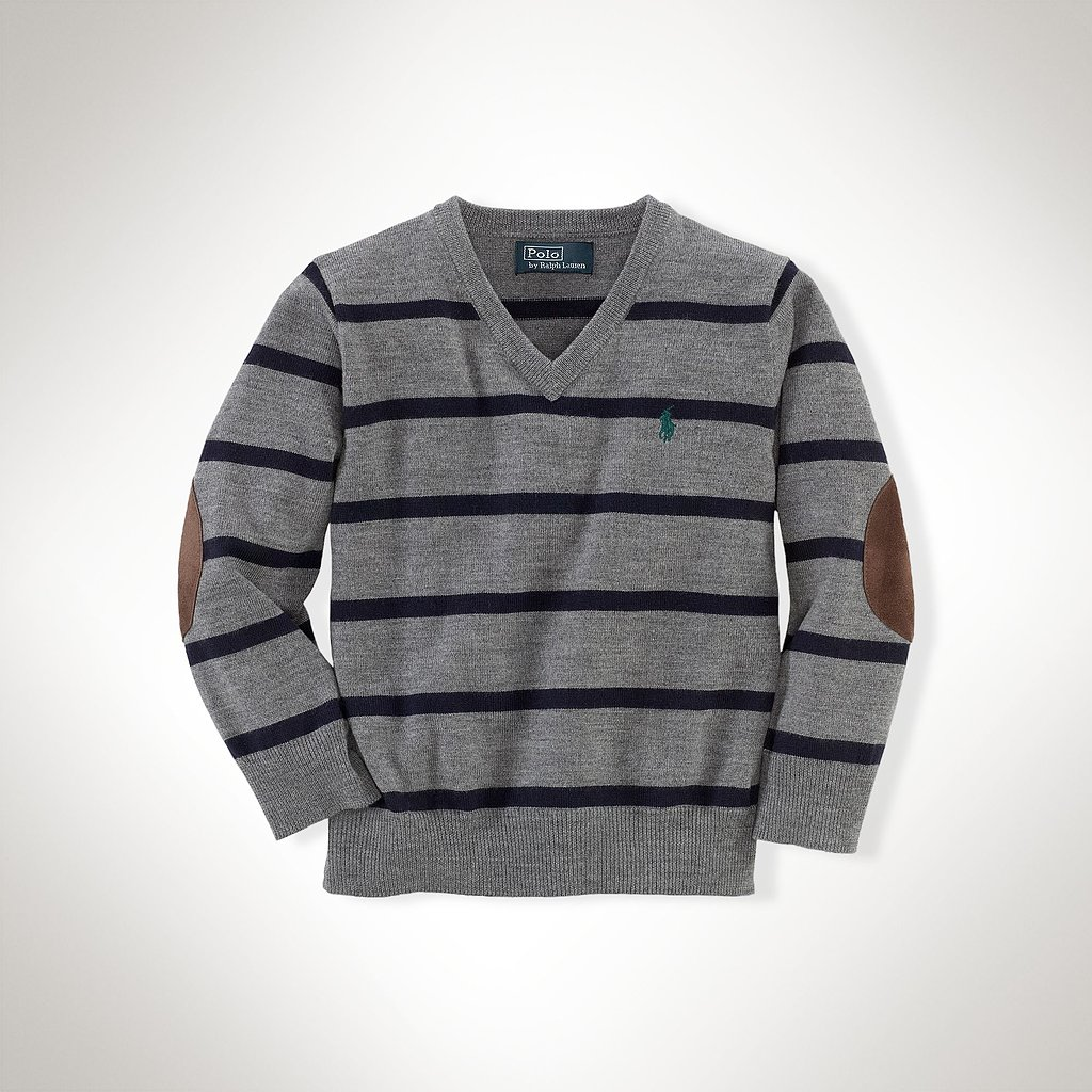 He'll never go wrong with the classic look of this striped v-neck sweater ($50, originally $75).