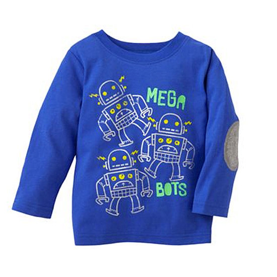 The robot design of this blue t-shirt ($6, originally $12) makes the elbow patches feel less preppy and more playful.