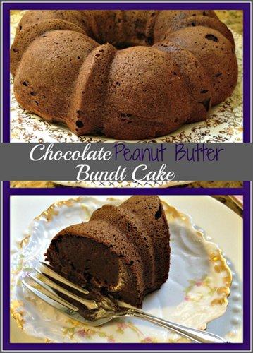 Gluten Free Chocolate Peanut Butter Bundt Cake