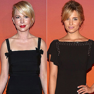 Michelle Williams in Louis Vuitton Black Dress